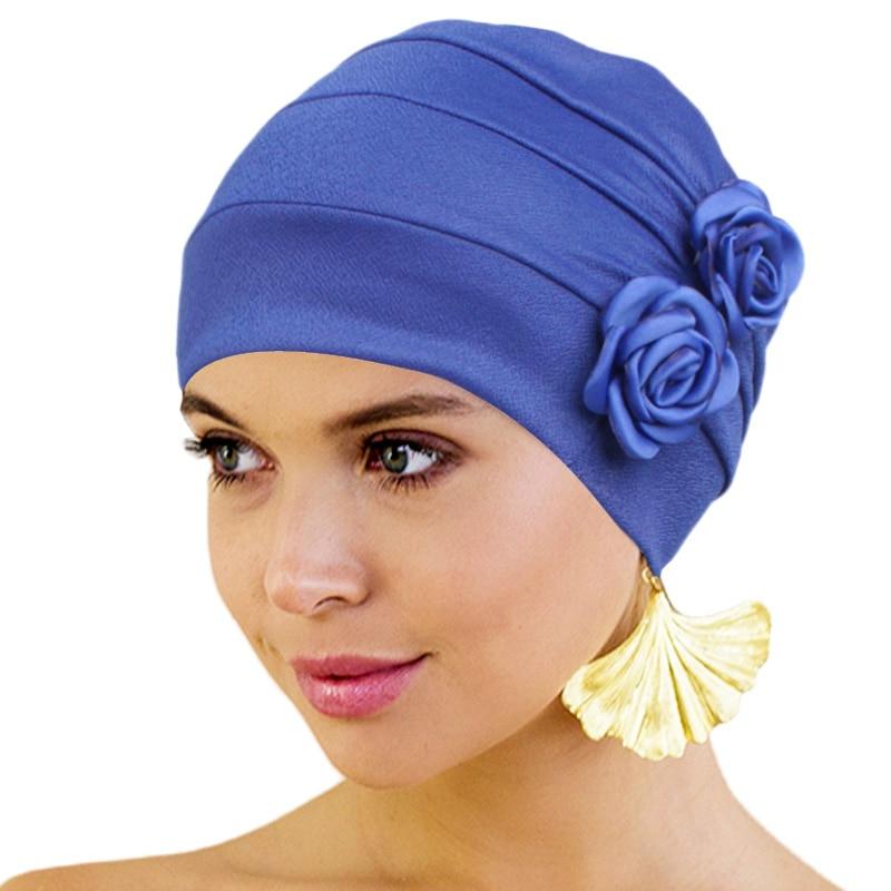 Chemo Hat Turban For Women Floral Decro Headwear Beanies Hiar Loss Cancer Chemo Cap Ladies Bandana Muslim Head Cover New Fashion