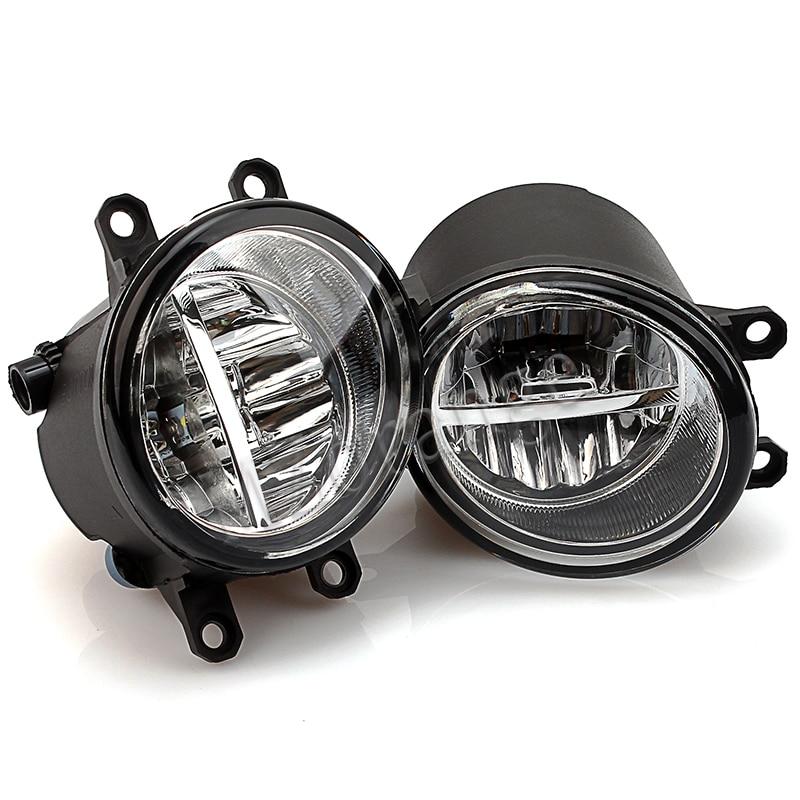 Luces antiniebla para Toyota Corolla 2003-2014 Avensis Camry Ractis Verso RAV 4 para Lexus 2008-2013 2 uds luces antiniebla led DRL