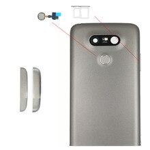 Back Metal Cover Housing For LG G5 F700 H850 H860N LS992 H830 Rear Battery Door Lid Shell + Sensor Flex + SIM Card Slot