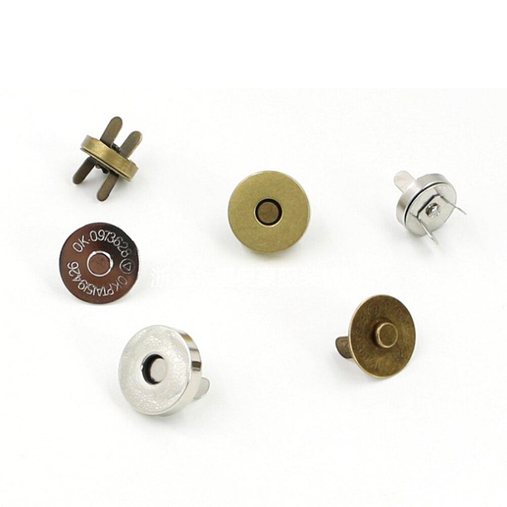 5 pçs fecho magnético bolsa snaps fechamentos 14/18mm saco redondo imprensa parafuso prisioneiro botão prendedores fecho saco parte acessórios