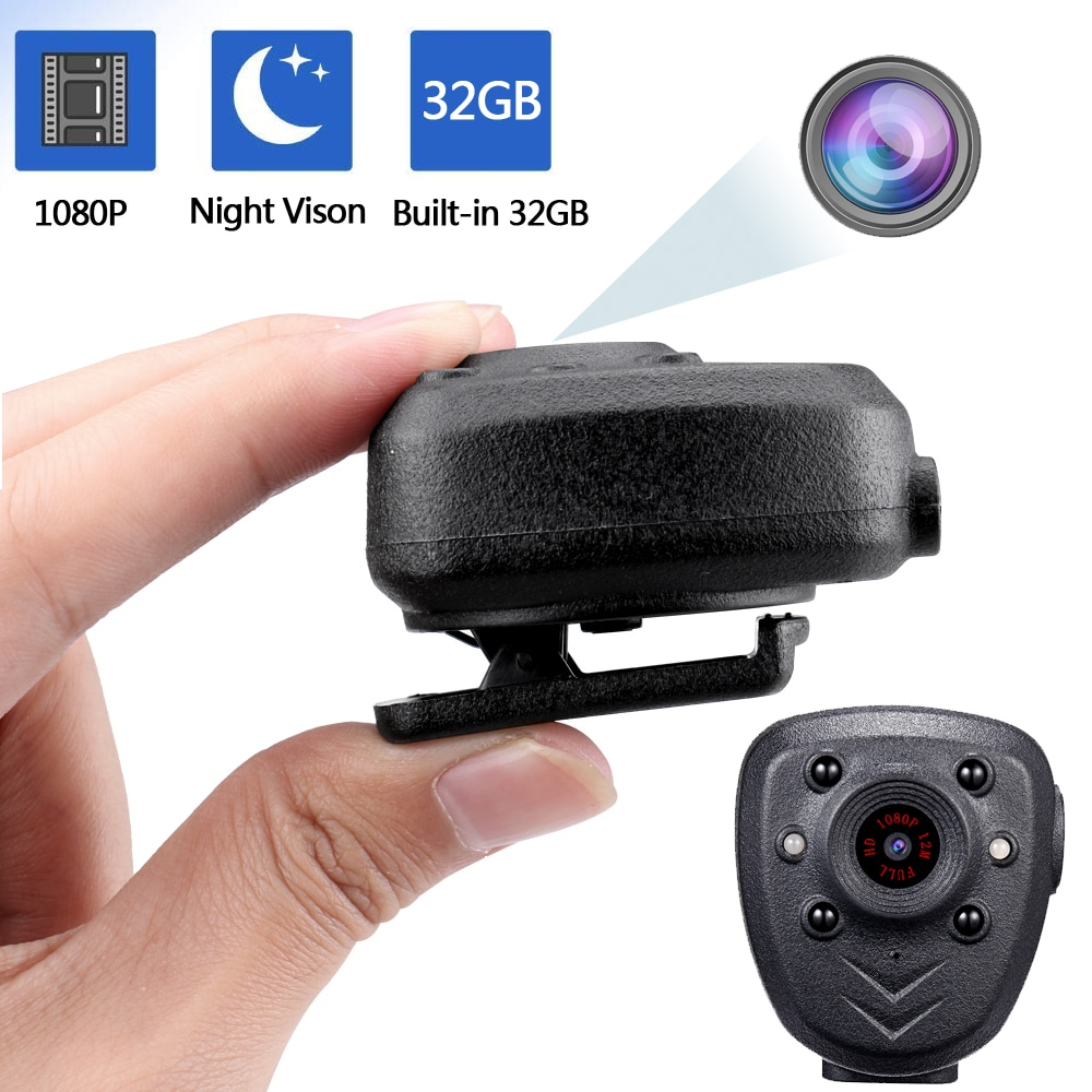 cool 98 16 9 virtual wide screen andriod 5 1 wifi bt video glasses eyewear private theater with card slot built in 16gb memory Mini Body Camera Video Recorder, Wearable Police Body cam with Night Vision, Built-in 32GB Memory Card, HD1080P,Record Video