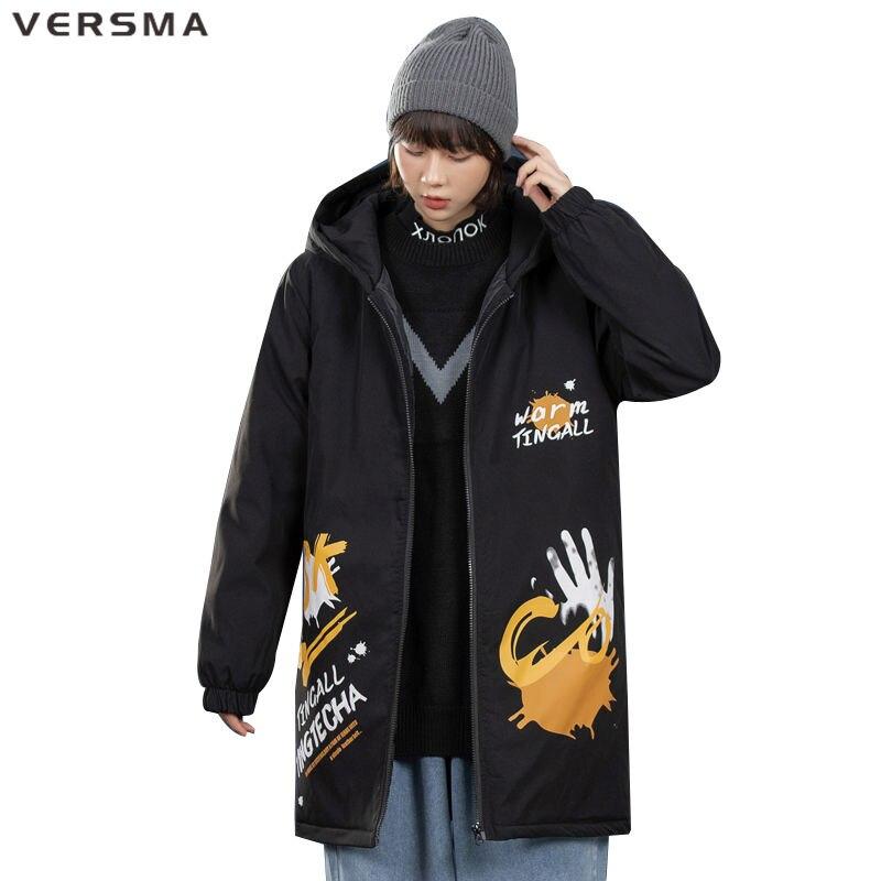 VERSMA الهيب هوب رجالي طويل خندق معطف معطف الرجال الشتاء الكورية نمط ملابس الرجال سترة واقية سترة معطف الرجال 5XL دروبشيبينغ