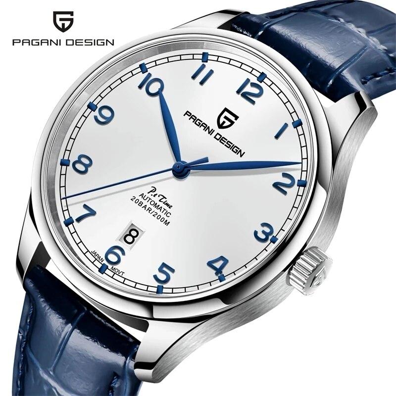 PAGANI DESIGN New Pilot Watch Luxury Sapphire Glass Automatic Watch Waterproof 200M Mechanical Watch