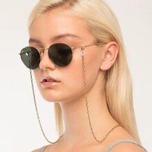 Fashion Gold Silver Color O-shaped Chain Glasses Chain Beaded Sunglass Reading Eyeglasses Chain Cord