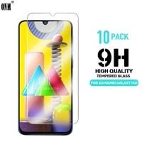 10pcs m31 tempered glass for samsung galaxy m31 screen protector 9h tempered glass for samsung galaxy m31 6 4 protective film