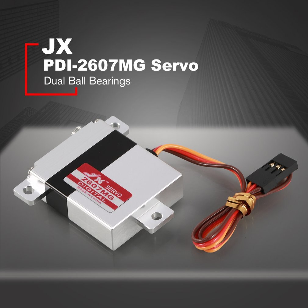 Jx servo PDI-2607MG 7.2kg 0.13sec digital alu asa servo para rc planador avião helicóptero