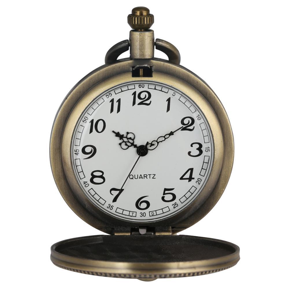 Bronce, reloj de bolsillo del Departamento del Ejército de EE. UU. Con Collar, cadena, envío directo, relojes Fob