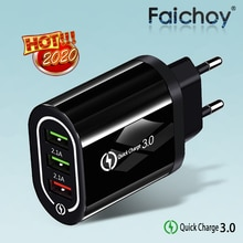 QC 3,0 USB Ladegerät Schnell Ladung 3,0 EU/UNS Schnelle Ladung Multi Stecker Wand Ladegerät Adapter Für iPhone XR 11 Pro Samsung Xiaomi mi 9