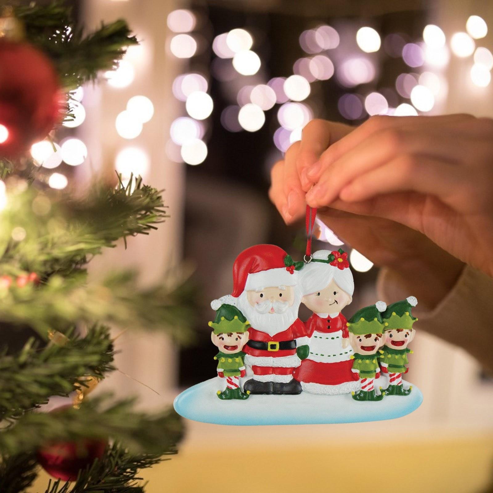 Decoración de navidad de familia bricolaje decoración de árbol de navidad adornos...