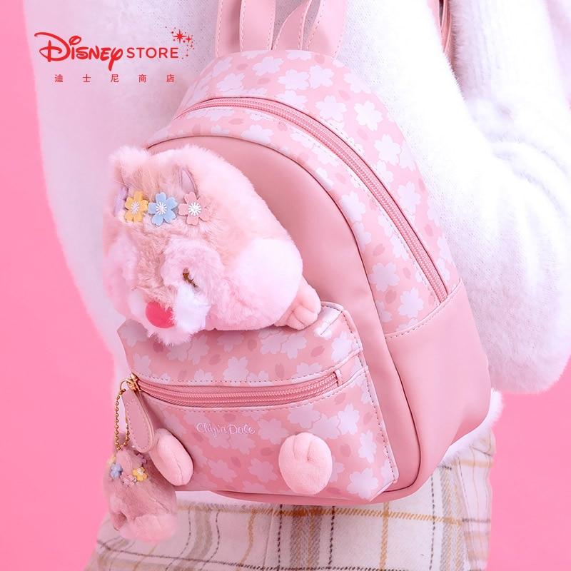 Authentic Disney Cartoon Cute Pink Romantic Kiki Titi Series Backpack 2021 Gift Fashion Bag
