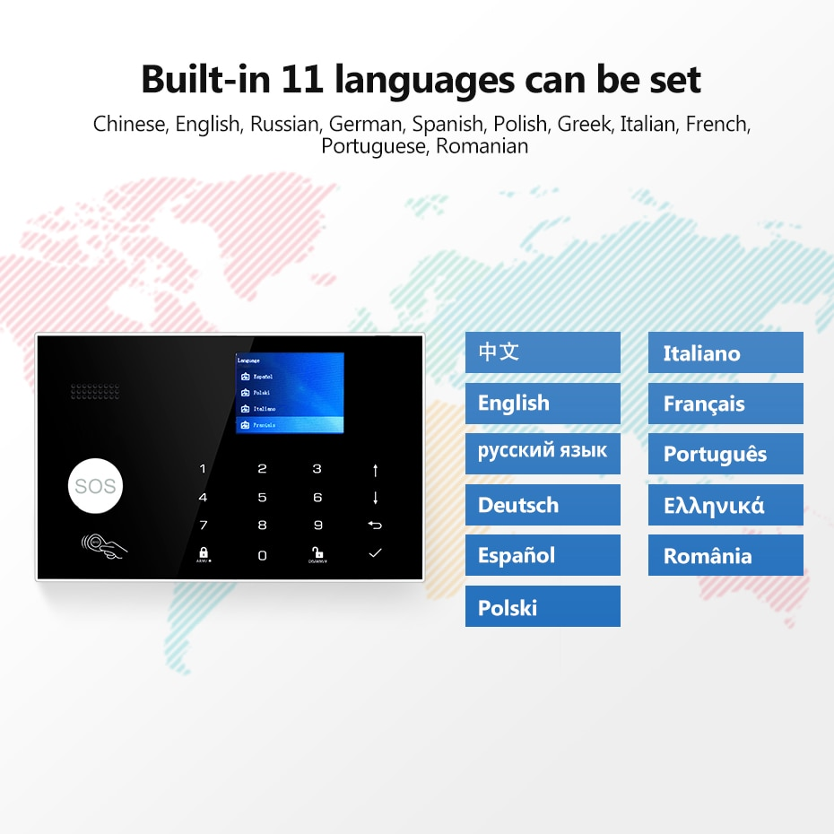 Tuya WIFI GSM 4G Security Alarm System Smart home Remote Control Touch Keyboard 11 Languages Wireless Alarm kit enlarge