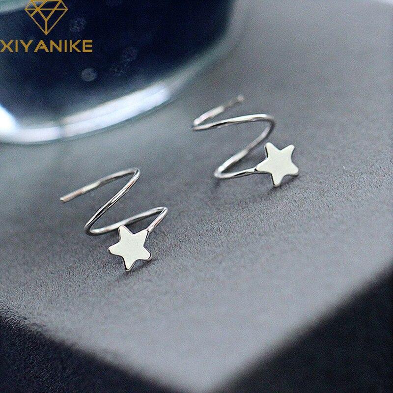 xiyanike-серебро-925-пробы-креативные-весенние-вращающиеся-круглые-серьги-гвоздики-очаровательные-женские-ювелирные-изделия-с-пентаграммой-п