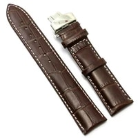 brown leather watch band 18mm 20mm 22mm straps mens watches accessories women exquisite strap butterfly buckle 7 holes