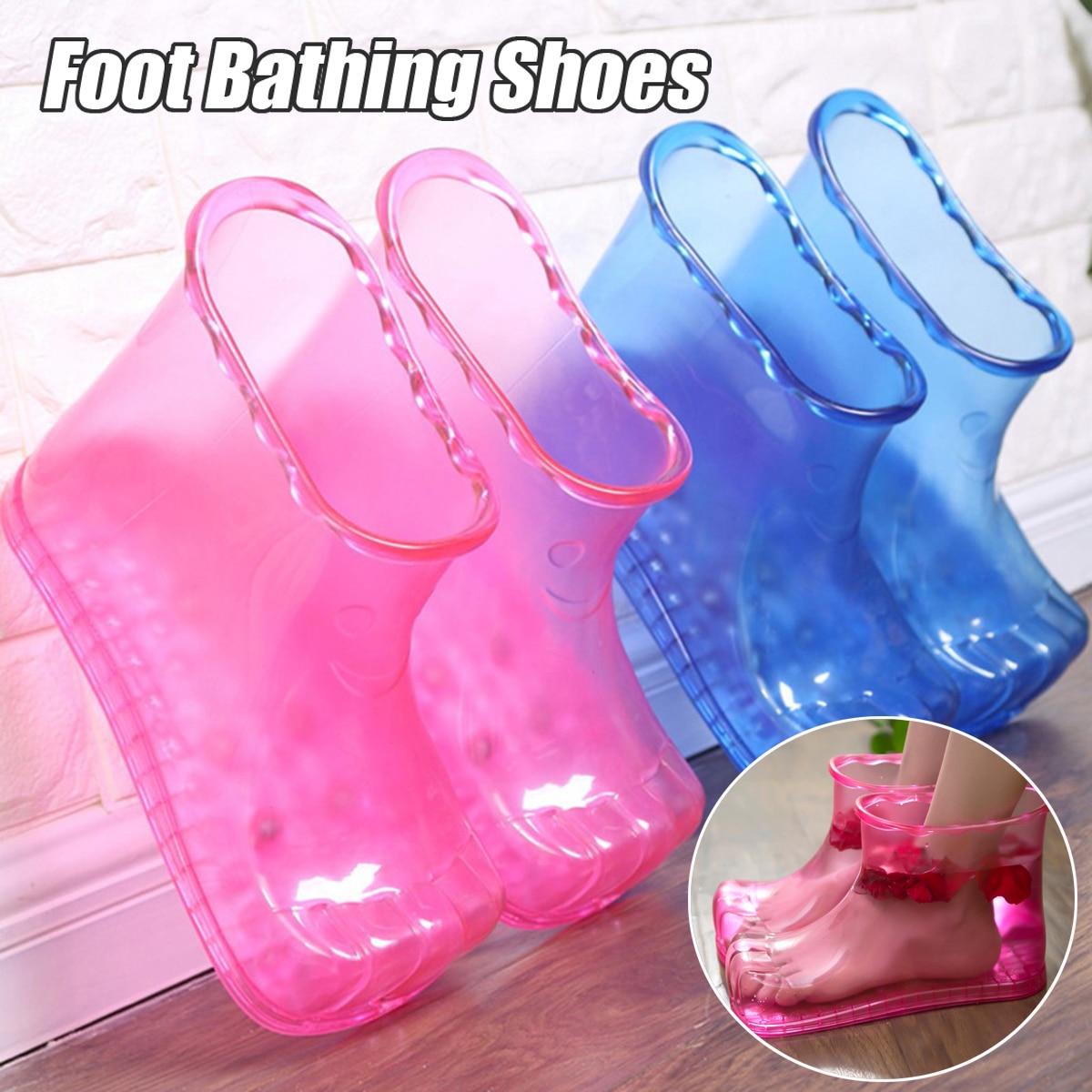 أحذية التدليك للنساء ، العلاج في الحمام ، أحذية الكاحل ، الاسترخاء ، العناية بالقدم ، الماء الساخن ، محايد ، 25.6 سنتيمتر