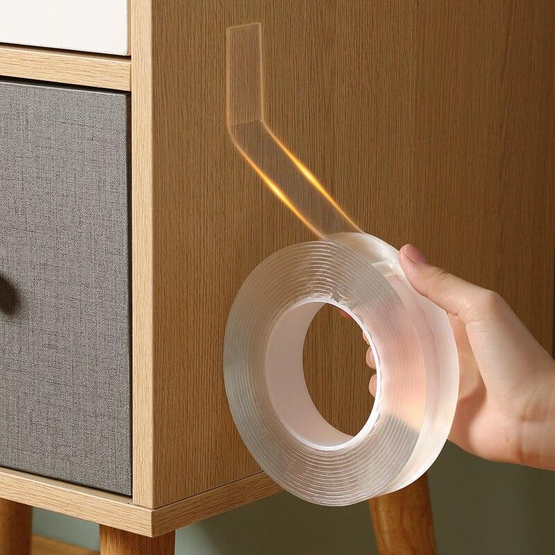 نانو ماجيك الشريط شريط لاصق على الوجهين الشريط شفافة قابلة لإعادة الاستخدام Traceless مقاوم للماء تنظيف المنزل أشرطة لاصقة قوية