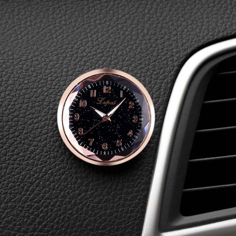 Reloj electrónico de coche de estilo de calibre automático reloj pequeño reloj de espejo para el hogar reloj con pegatina de doble cara decoración del coche