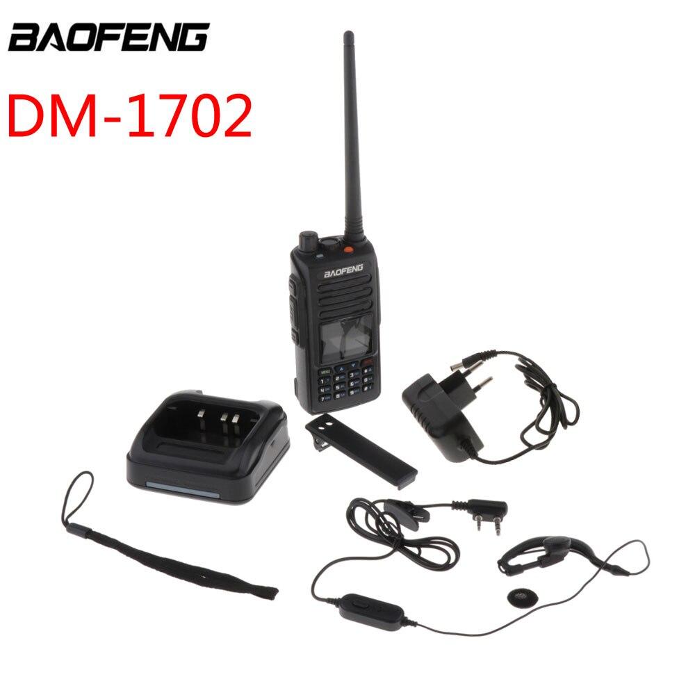 De BAOFENG DM-1702 GPS analógico Digital DMR radio amateur bidireccional Walkie Talkie portátil de transceptor FM recargable Walkie talkie