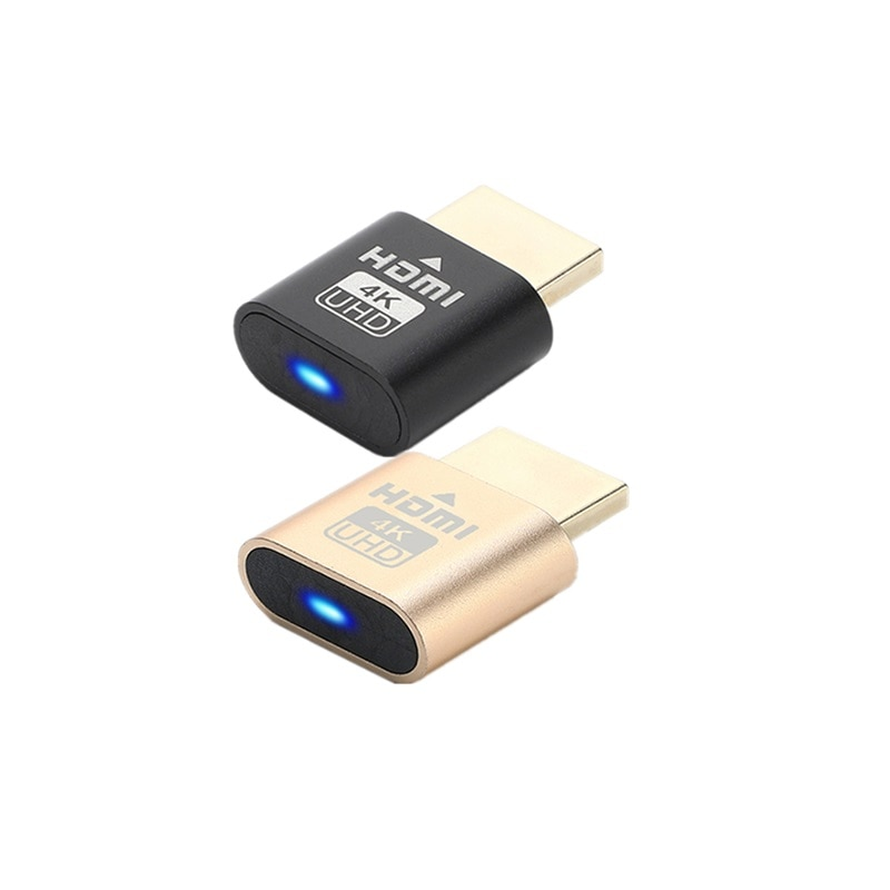 HDMI-Compatible HDMI Virtual Display Adapter with led Instruction 4K HDMI Dummy Cheat Virtual Plug 3060 for Bitcoin ETF Mining