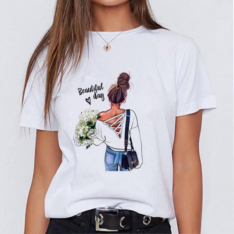 Modern mom fashionable T-shirt Korean fashion clothing street clothing female T-shirt to send girlfriends friends holiday gifts