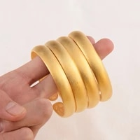 new fashion can open lady luxury gold color bangles ethiopian african women dubai bracelet party wedding gifts