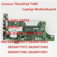 original mainboard for lenovo thinkpad t490 laptop motherboard nm 901 w i5 8365u cpu 8gb ram fur 01yt405 100 test ok
