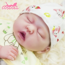 New 47CM Children Silicone Simulated Newborn Baby Toys Toddler Full Silicone Transplantation Girl Ne