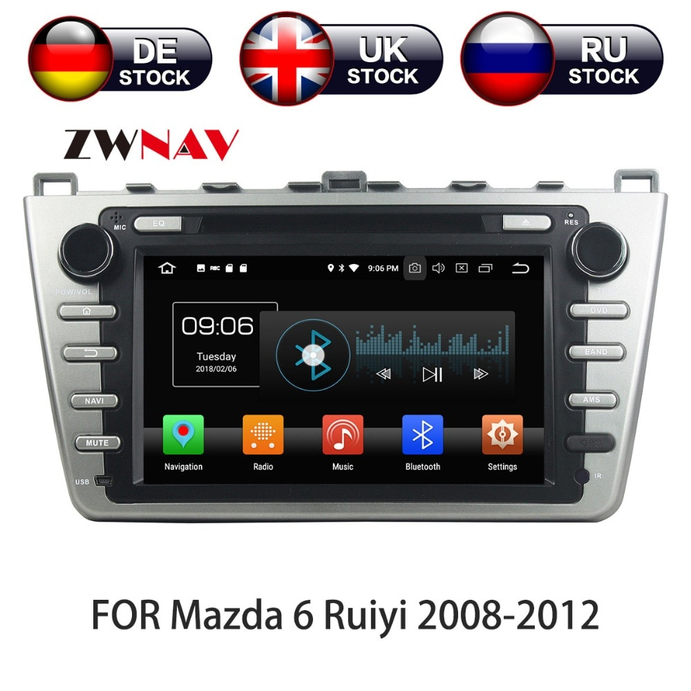 8 Core Android 10 WIth DSP Car DVD Player GPS Navigation 2 DIN Radio For Mazda 6 Atenza 2008 - 2012 Satnav Multimedia IPS Screen недорого