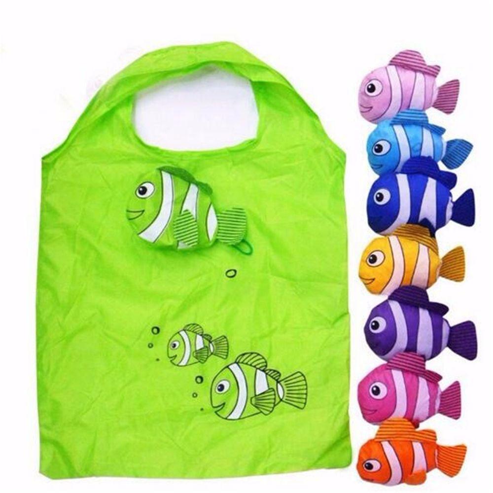 Горячая многоразовая маленькая рыбка складная сумка для похода в магазин эко Нейлоновая Сумка переноска для животных Полиэстер Эко сумка д...