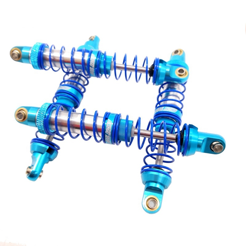 Metal Double segment Oil pressure 90MM blue shock absorber For 1/10 RC Crawler Car Traxxas TRX4 SCX10 D90 D110 TRX6 JIMNY Parts enlarge