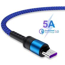 For Huawei Samsung Mobile Phone Accessories Type-C 5A USB Charging Cable Super Fast Charge Data Line