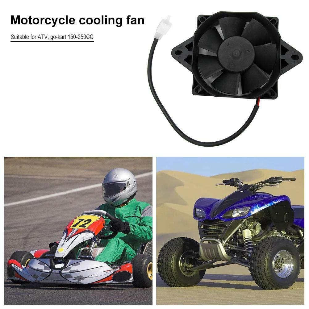 1pc motorcycle accessories 1pc Motorcycle Radiator Electric Cooling Fan Replacement Accessories              For 150-250cc ATV Kart Quad Dirt ATV