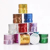 jojo bows 4 5mroll flat sequin trim for needlework sequins diy bows handmade craft apparel sewing supplies wedding decoration