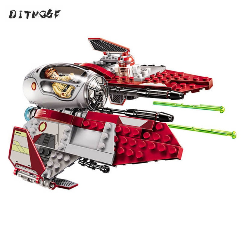 10575 BALE Star Wars Obi-Wan's Jedi Interceptor Model Building Blocks Enlighten Action Figure Toys For Children Compatible block