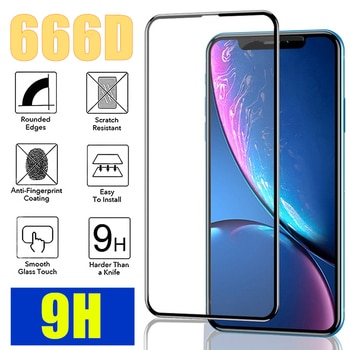 666D Full Cover Glass on the For iPhone 12 11 Pro MAX X XS Max XR  Screen Protector For iPhone 7 8 Plus SE 2020 Tempered Glass