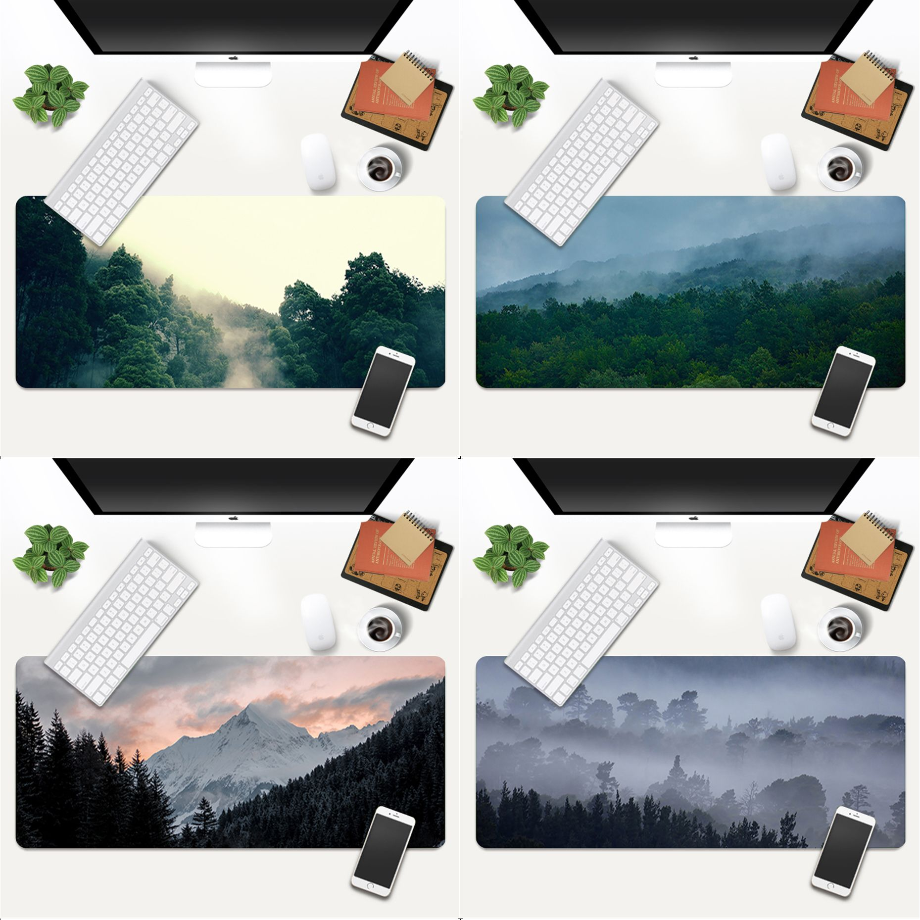 MaiYaCa Top Quality Forest Cloud gamer play mats Mousepad Gaming Mouse Pad Large Deak Mat 700x300mm for overwatch/cs go maiyaca 2018 new persian rugs mouse pad gamer play mats size for 180x220x2mm and 250x290x2mm small mousepad