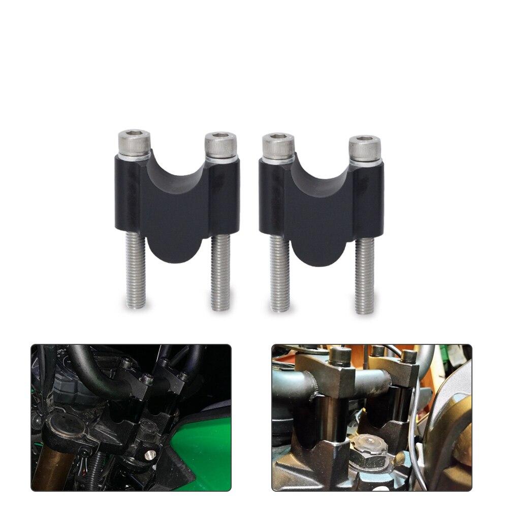 "Motocicleta elevador de manillar Kit 7/8 ""barra Universal abrazaderas 22mm CNC para HONDA BMW KAWASAKI ATV Scooter"