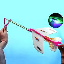 DIODO EMISSOR de Luz Lançador Catapulta Aeronave Avião Ao Ar Livre DIY Sling Planador Avião Modelo Toy Kids Educação Game Boy