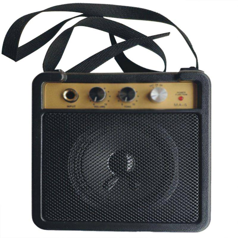 Электрический усилитель для гитарного усилителя, динамик 5 Вт с входом 6,35 мм, выход для наушников 1/4 дюйма, поддерживает регулятор громкости