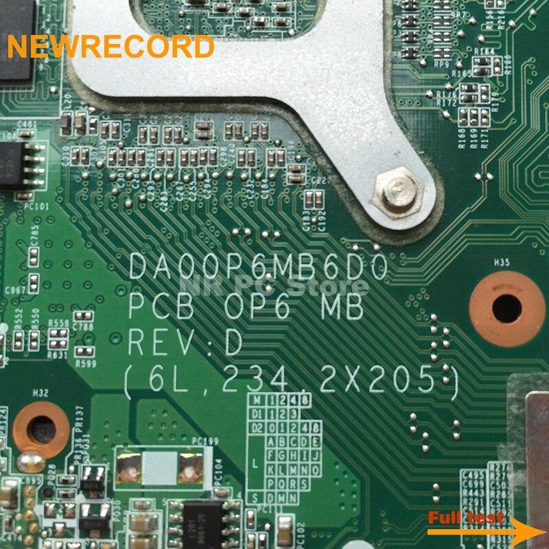 Купить с кэшбэком NEWRECORD 517837-001 DA00P6MB6D0 Main board For HP Compaq Presario CQ61 G61 Laptop motherboard DDR2 GeForce G103M free cpu