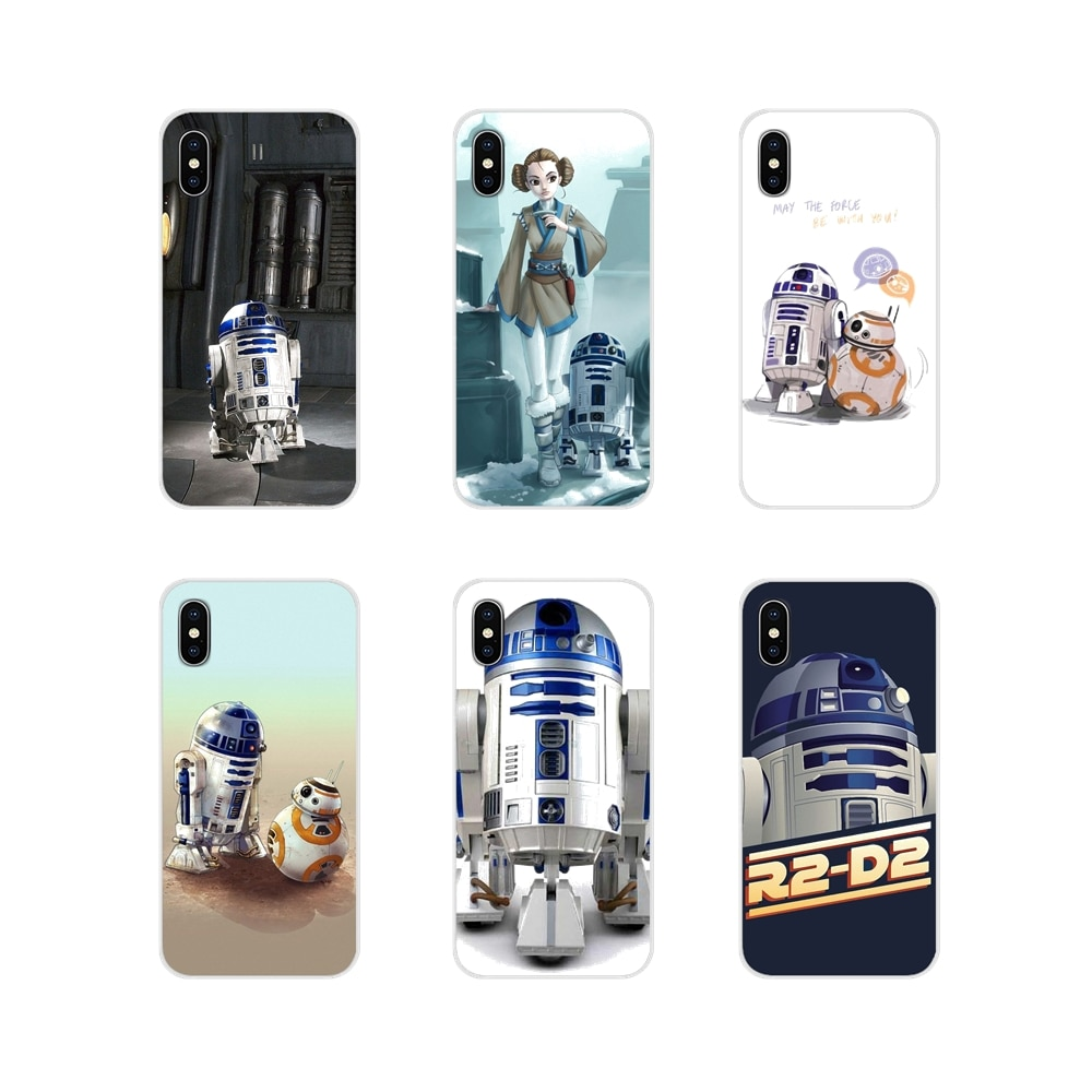 Silikon kabuk kapakları Huawei G7 G8 P8 P9 P10 P20 P30 Lite Mini Pro P akıllı artı 2017 2018 2019 Star Wars BB8 R2D2 Robot BB-8