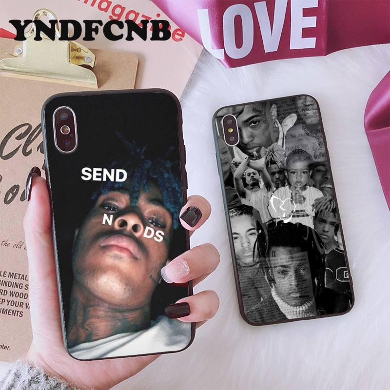 Yndfcnb xxxtentacion venda moda caso de telefone do cliente para o iphone 8 7 6s plus x xs max 5 5S se xr 11 11pro promax
