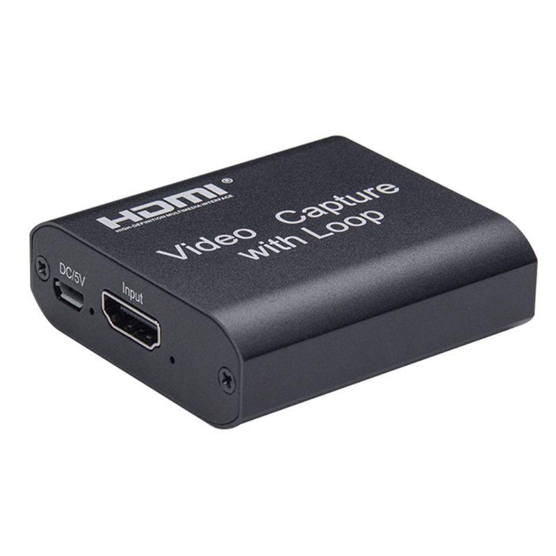 1080P 4K HDMI-compatible Video Capture Device HDMI-compatible to USB 2.0 Video Capture Card Dongle G