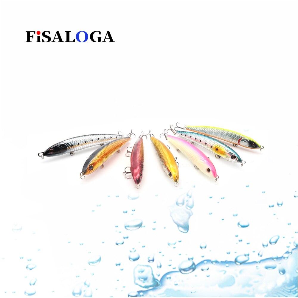 Afundando lápis isca de pesca 41g 145mm wobbler topwater swimbait longo fundição fisaloga baixo pique carpa isca presente 2 vmc gancho agudos