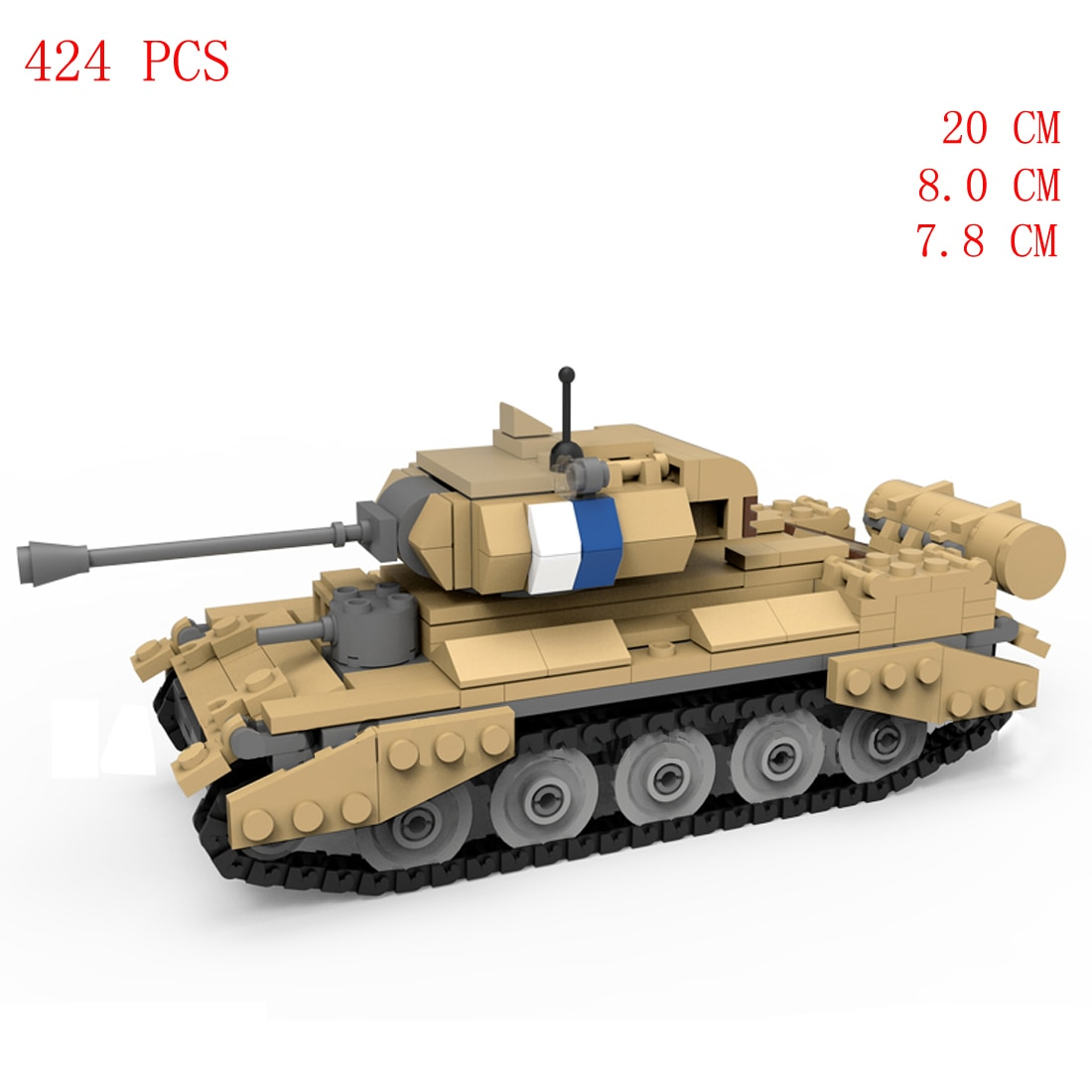 Купить с кэшбэком hot military WWII German Army VS UK Crusader cruise tank vehicles North Africa war equipment Building Blocks weapons bricks toys