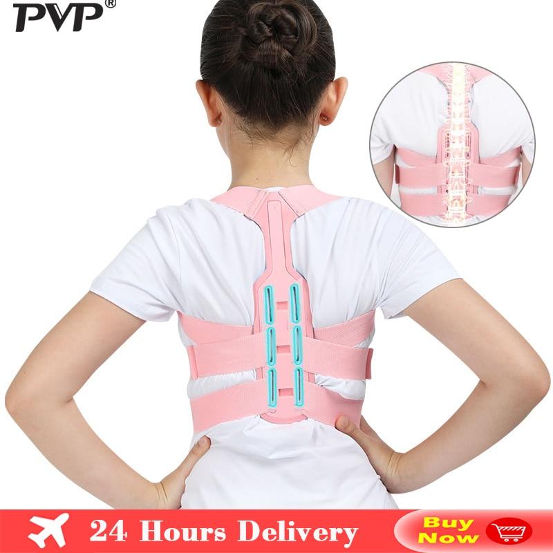 Tirantes para espalda soporte ajustable Corrector de postura columna vertebral Lumbar, cinturón de soporte para niños, Corset ortopédico