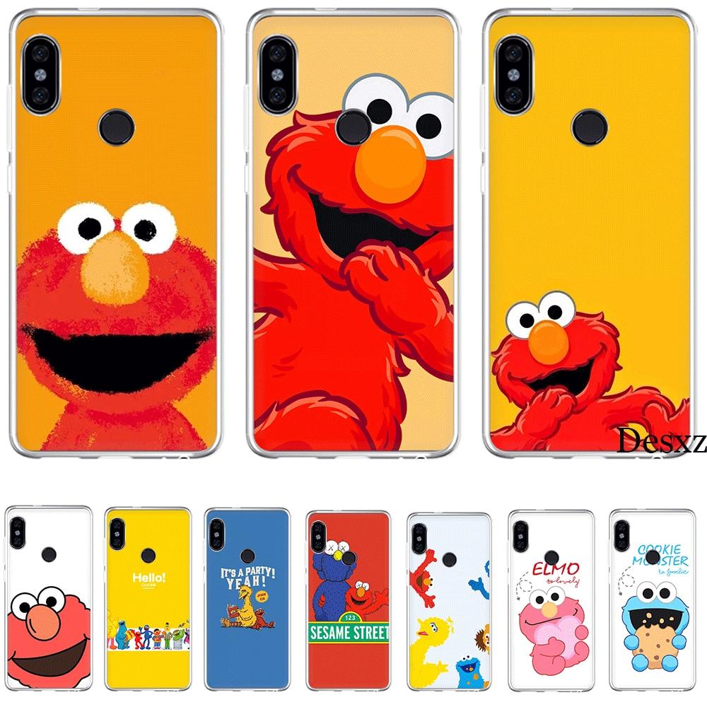 Funda de teléfono para Xiaomi Redmi 3 3S 4 4A 4X 5 5A 6 7 Go 6A S2 K20 Pro Prime Plus K30 Poco X2, funda de monstruos para galletas, Elmo