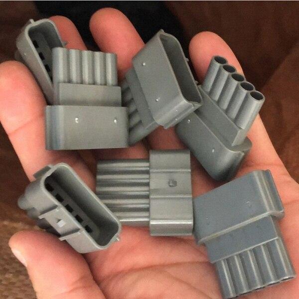 موصل ذكر تلقائي 5 دبوس ، 20 مجموعة من 6189 إلى 0848 قابس إلكتروني ، بلاستيك مقاوم للماء ، شحن مجاني