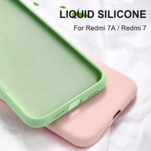 For Xiaomi Redmi 7A Note 7 Case Liquid Silicone Rubber Soft Cover For Xiomi Xiaomi Redmi 7A Note 7 Phone Cases Shockproof Coque