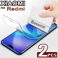 2pcs hydrogel film on the screen protector for xiaomi redmi note 10 9 mi 11 ultra 10t pro screen protector for poco x3 f3 f2 pro