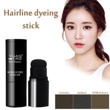 3 Colors Hair Line Powder Waterproof Hair Shadow Powder Control Hair Edge With Hair Makeup Puff Cove